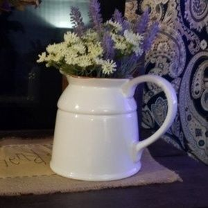 BRAND NEW Farmhouse Ceramic Pitcher Vase